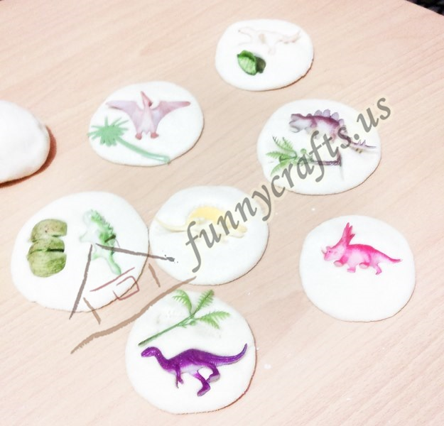 salt dough dinosaur fossils for kids