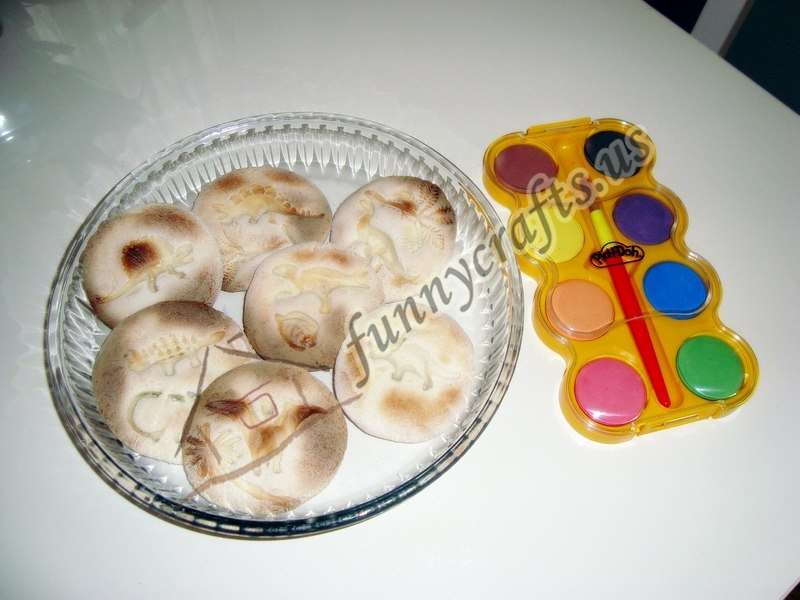 salt dough fossils for kids