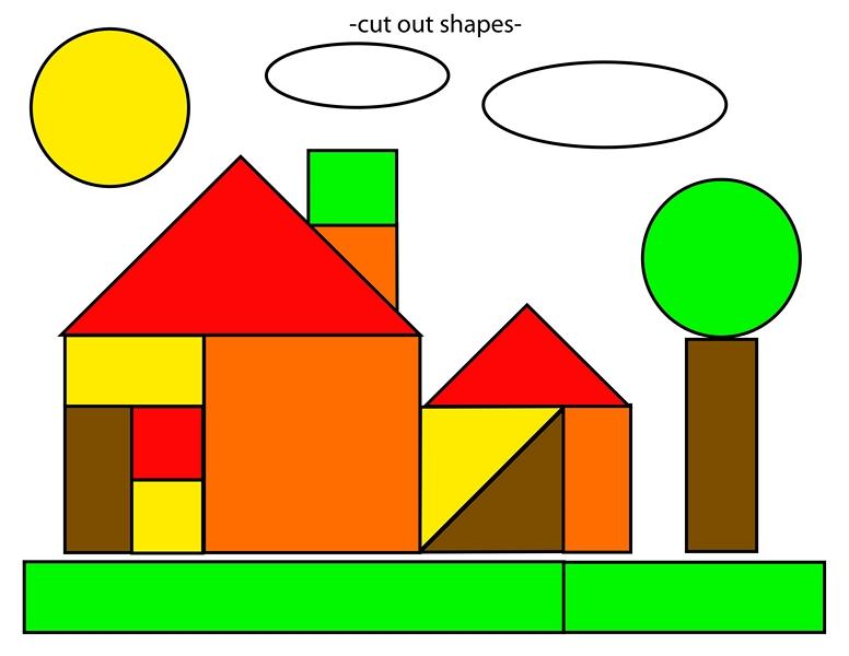 shapes home cut and paste free printables (2) u00ab Preschool ...