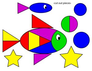 shapes themed fish cut and paste (4)