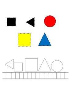 shapes train cut and paste printables