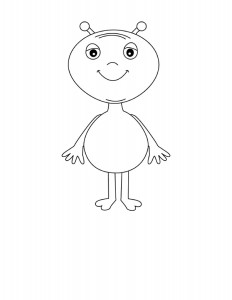 space alien coloring pages (4)