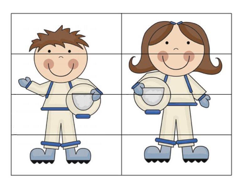 Space Astronaut Puzzle « Preschool And Homeschool