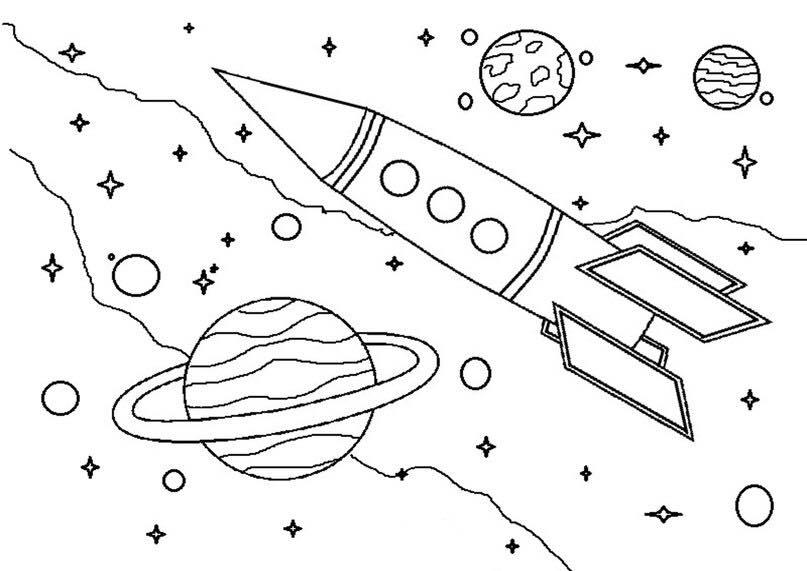 space coloring pages funnycrafts
