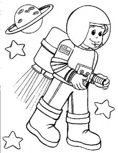 space coloring worksheets (1)