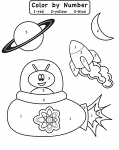 space coloring worksheets (2)