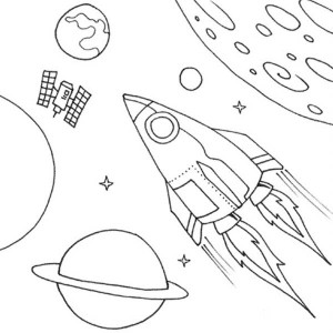 space coloring worksheets (3)