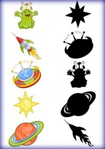 space theme shadow