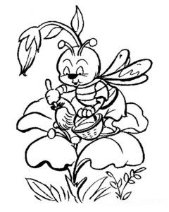 spring bee coloring pages (1)