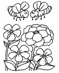 spring bee coloring pages (18)