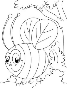 spring bee coloring pages (19)
