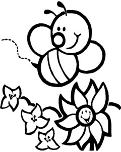 spring bee coloring pages (25)
