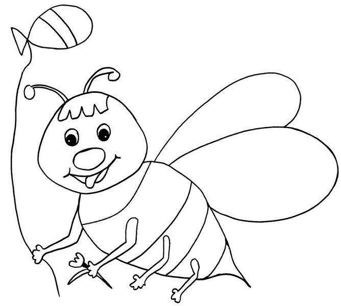 free beehive coloring page html