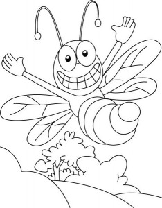 spring bee coloring pages (27)