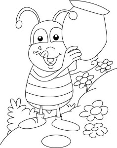 spring bee coloring pages (28)