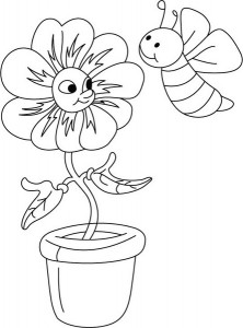 spring bee coloring pages (3)