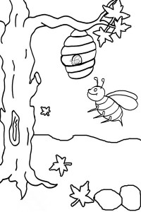 spring bee coloring pages (5)