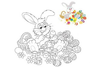 the best spring easter bunny coloring pages