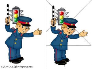 traffic police puzzle printables