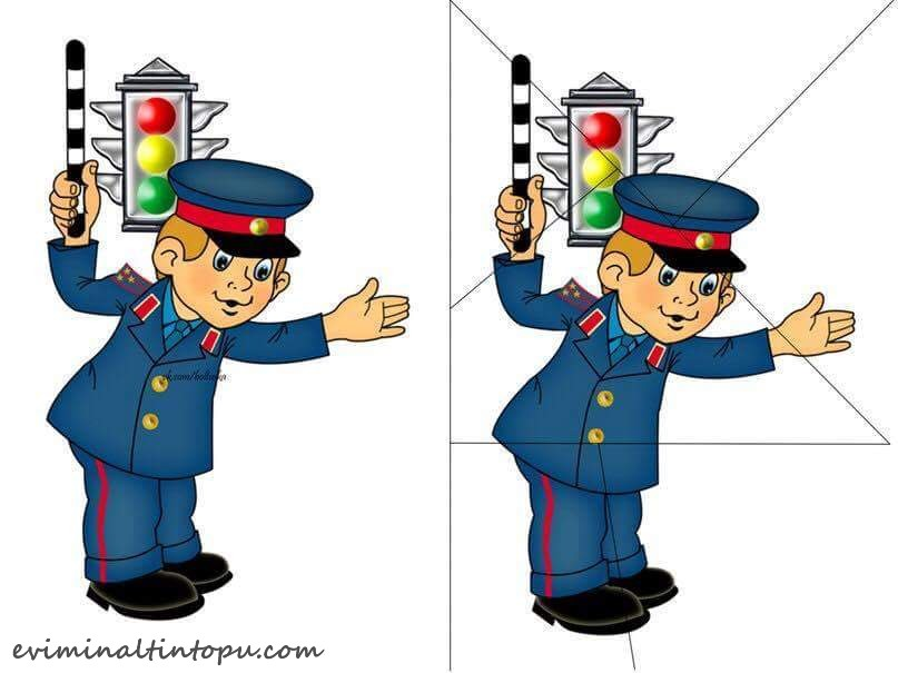 Traffic Police Puzzle Printables on Free Printable Preschool Worksheets Alphabet