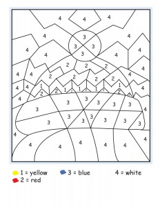 winter color by number free printables (5)
