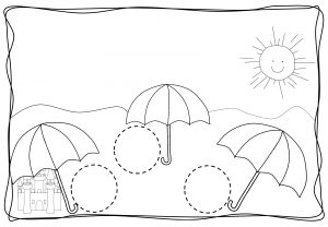 Circles tracing worksheets for kids (1)