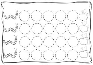 Circles tracing worksheets for kids (4)
