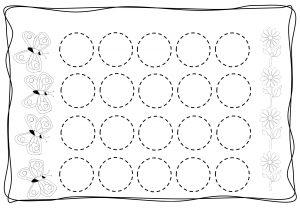 Circles tracing worksheets for kids (5)