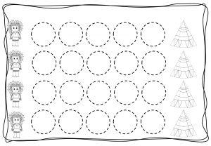 Circles tracing worksheets for kids (9)
