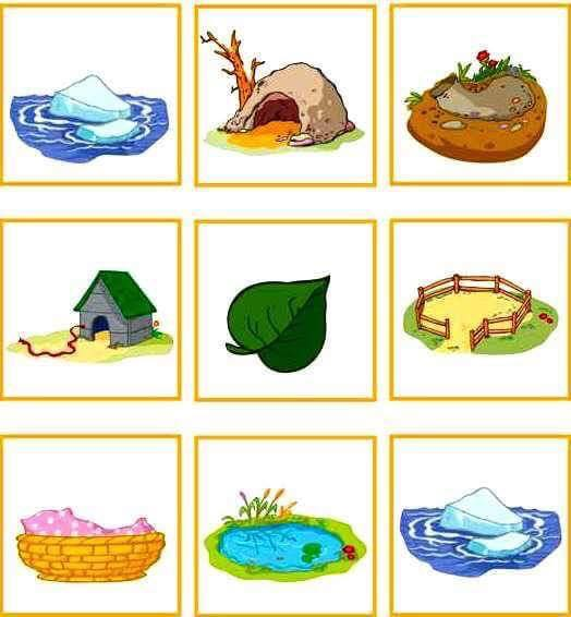 animals and their homes printables (3) « Preschool and