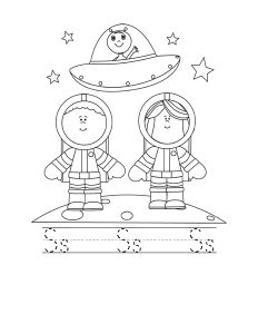astronout letter coloring page (1)