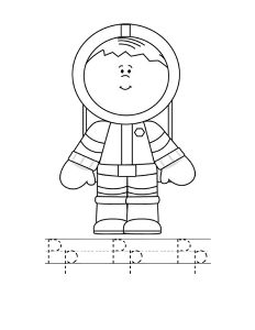 astronout letter coloring page (2)