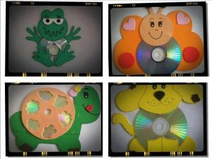 cd craft ideas animals