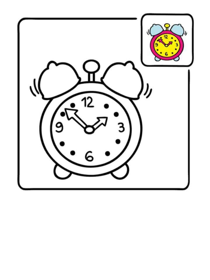 Printable Coloring Pages For Kids Clock