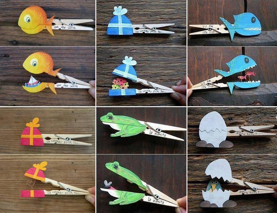 Clothespin Recycled Animals Craft on Recycle Worksheets