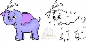 elephant dot to dot sheet