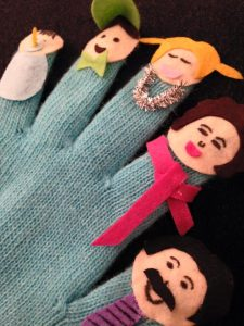 fınger famıly gloves for kids