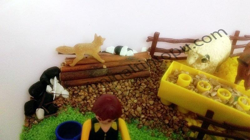 fall farm sensory tub