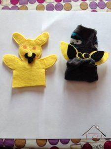 felt and sock puppets