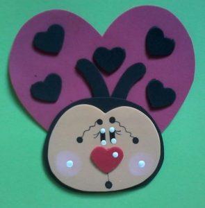 foam ladybug craft