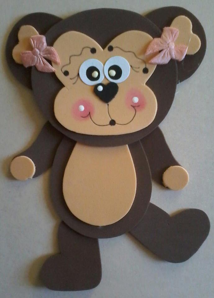 foam monkey craft 2 Preschool and Homeschool