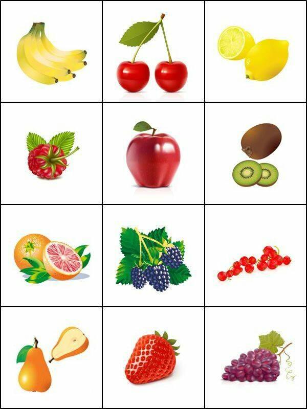 fruit printable cards « Preschool and Homeschool