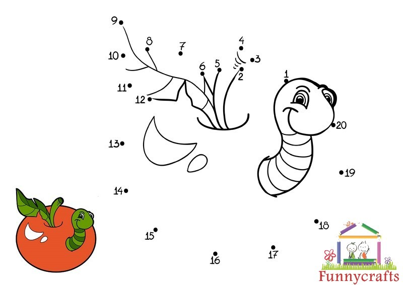 hungry caterpillar dot to dots