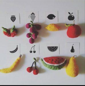 knitted fruit, fruit knitting patterns