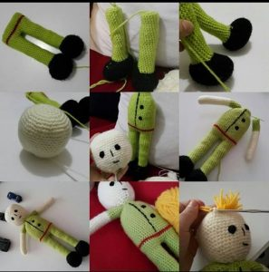 knitted human body for kids