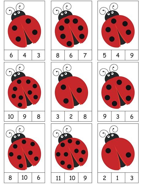 ladybug counting activity « Preschool and Homeschool