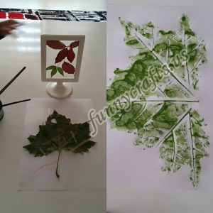 leaf prints craft