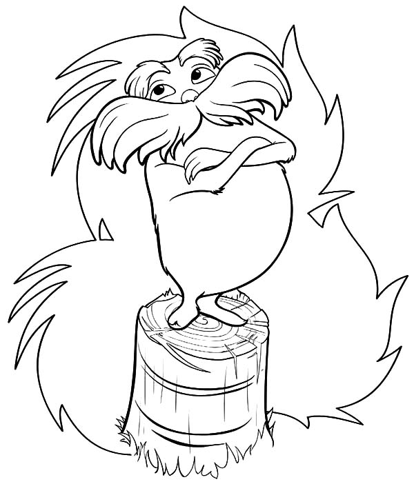 Lorax truffula coloring pages 1 funnycrafts for Truffula tree coloring page