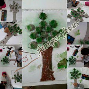 make a tree using egg carton