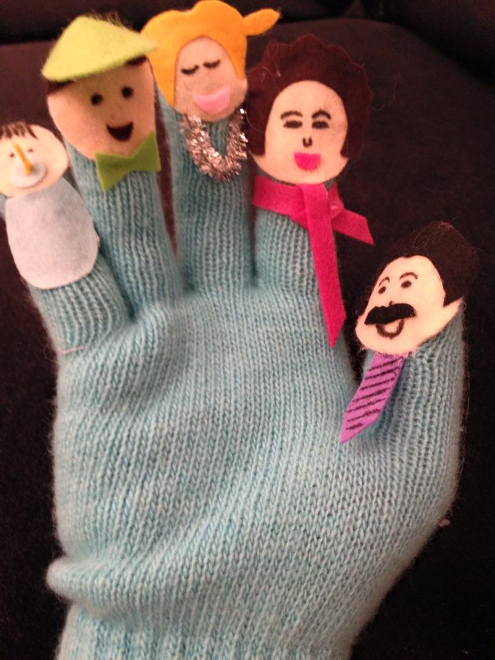 Finger Family Gloves Funny Crafts